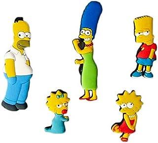 xunlei Refrigerador Pegatinas 5 Unids Homer Simpson Dibujos Animados Creativo Nevera Imán Educación Temprana Decorativo Refrigerador Pegatina Home Decoración