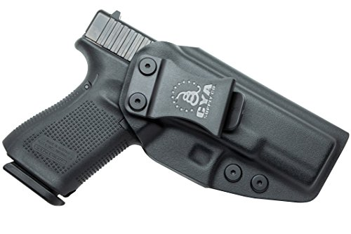 CYA Supply Co. Fits Glock 19/23/32/19X/45 Inside Waistband Holster Concealed Carry IWB Veteran Owned Company (Black, 011- Glock 19/23/32/19X/45)