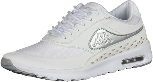 Kappa Milla 241963 Damen Sneakers Weiß/Silber, EU 38