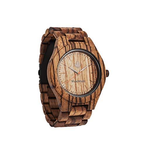 Zebra | Ufficiale WoodWatch® | Realizzato a mano | Movimento al quarzo giapponese | Orologio resistente e antispruzzo con elegante cassa in legno