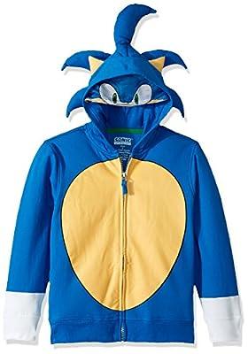 SEGA Kids' Little Sonic The Hedgehog Costume Hoodie, Royal, 7