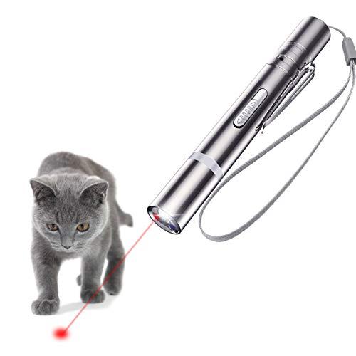 Pointeur à LED OUTERDO, jouet interactif USB pour animal domestique rechargeable et souris Sisal pour chats