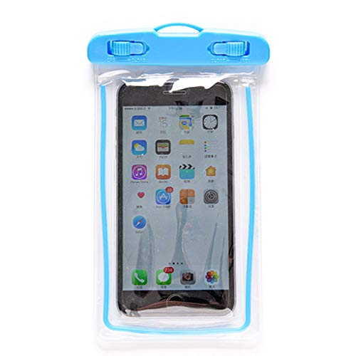 The Packet, Luminous Pvc Mobile Phone Waterproof Bag Swimming Camera Cover Waterproof Cover Housekeeping Organizers Liquidation de décoration (Blue)