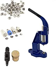 720 Sets 4 Piece 10mm Silver Snap Buttons with Manual Press Machine, Dies, Hole Punch Tool.