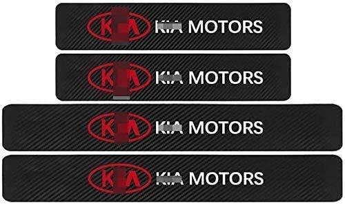 Para KIA K2 K3 K5 k9 Sorento Sportage R Rio Soul All Models, Decoración Pegatina para Estribos, Protección de Pedal de umbral, Faldones Laterales Fibra de Carbono, Evitar el Desgaste