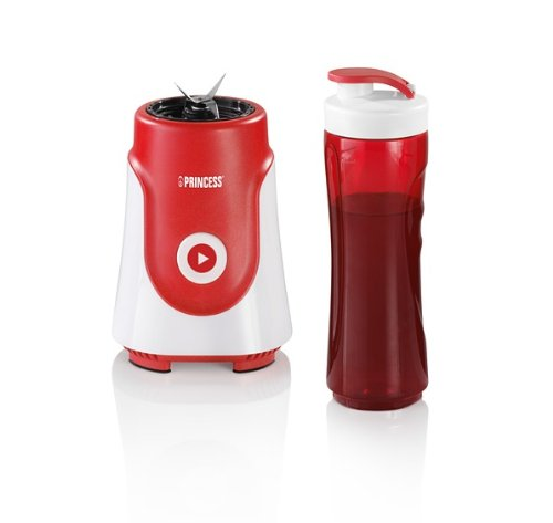 Mixeur Princess 218000 Personal Blender – Appareil à smoothie à emporter – Bol en Tritan de 600 ml – Rouge vif