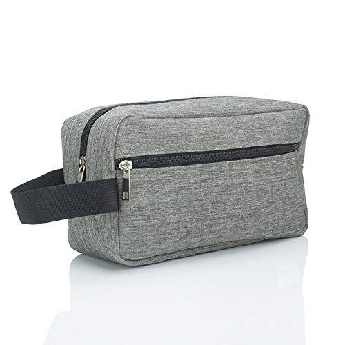 Sac cosmétique femme grande capacité sac à main étanche sac de lavage portable beauté sac cosmétique sac de rangement de voyage pour hommes gris