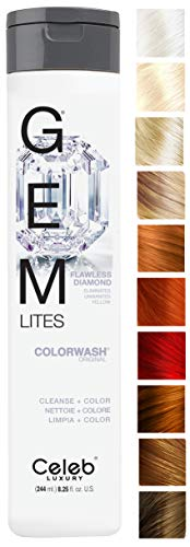 Celeb Luxury Gem Lites Colorwash, Professional Semi-Permanent Hair Color Depositing Shampoo, Flawless Diamond