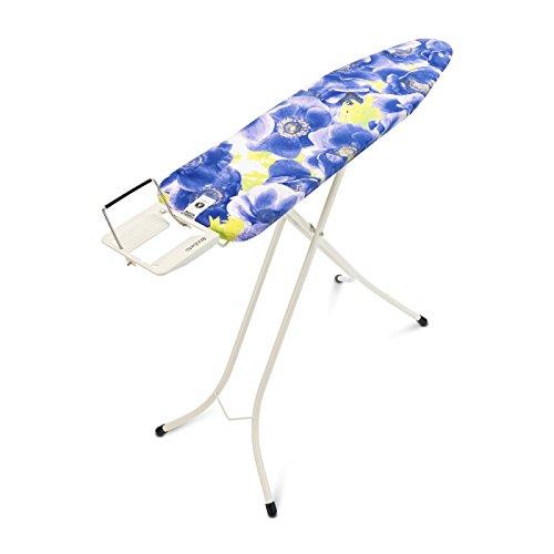 Brabantia Table à Repasser, Planche à Repasser (Taille A) avec Repose-Fer Vapeur, Pieds Acier Ø 22 mm, Purple Anemone/Ivory, 101403