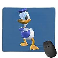 青い壁紙のドナルドダック マウスパッド おしゃれ 高級感 ゲーミング オフィス最適 滑り止めゴム底 付着力が強い 耐久性が良 22x18x0.3cm