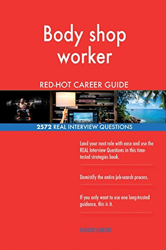 Body shop worker RED-HOT Career Guide; 2572 REAL Interview Questions