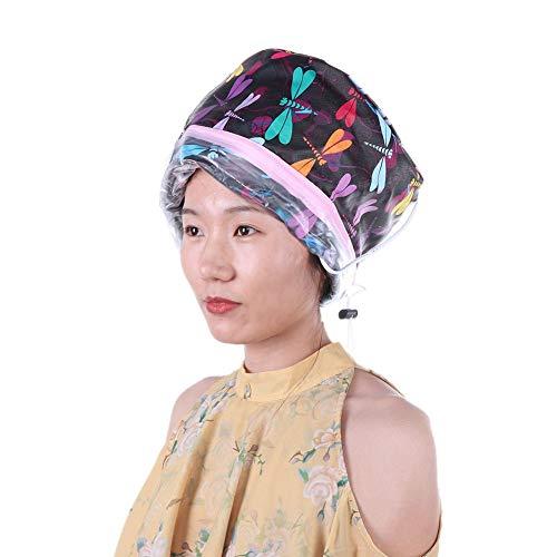 Chapeau chauffant électrique Traitement à l'huile Cheveux Vapeur Capuchon d'évaporation à température réglable Chapeau nourrissant pour les soins des cheveux à la maison(EU PLUG)