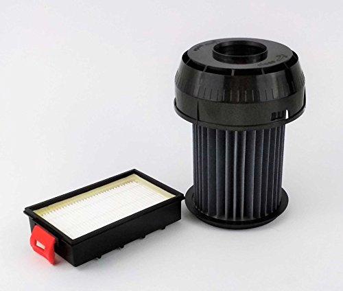 Hepa-Filter-Set passend für Bosch Roxx x, Siemens BGS-6 VSX-6 Motorschutz-Filter 649841/00649841 + Abluftfilter 570324/00570324
