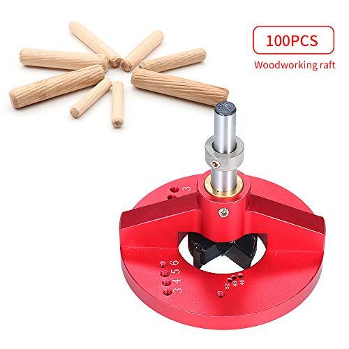 KKmoon Multifunctionele hangborstel met 100 stuks dowel houten dowels fluitje voor het maken van cabinetten