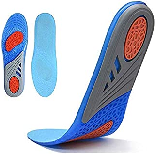 Insoles for Men, Comfort Gel Shoe Insoles, Full Length Orthotic Plantar Fasciitis Inserts with Arch Support Relieve Flat Feet, High Arch, Foot Pain,Supination (Men)