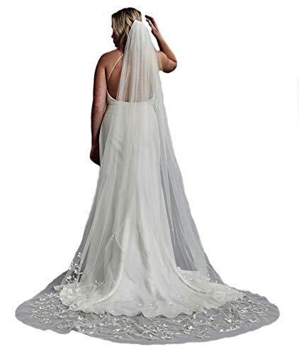 Passat 1Tier 2M/3M Cathedral Veils Crystal Beaded Veils Pearl Bridal Veil 137