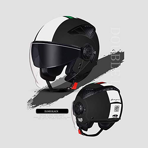 ZXASDC Dot Jet Casco Moto, Casco de Moto Jet Abierto Urbano Demi-Jet Mofa Chopper Vintage Helmet Scooter Cruiser Urban Piloto Moto Motocicleta Biker Bobber ABS, Unisex