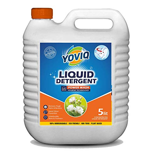 Yoviq Liquid Detergent 5 Liter   Laundry Liquid for Fabric Care   Suitable for Top-Load and Front Load Machine   Deep Cleaning Concentrated Laundry Liquid Detergent