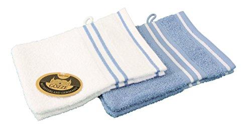 Gözze Gant de Toilette, 100% Coton, Bleu