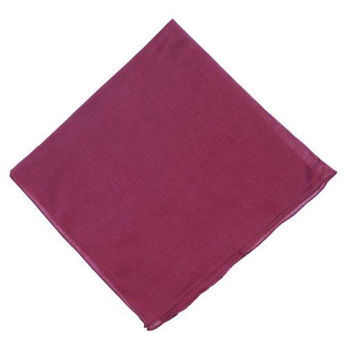 IB Halstuch 50x50cm Baumwolle 1A Qualität Einfarbig Bedruckbar Bestickbar Azofrei Uni Tuch Kopftuch Schultertuch Accessoire (1x, weinrot)