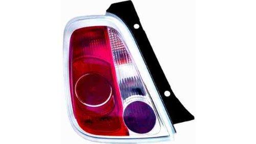Voyant arrière droit Fia. 500 (07- >) sans douille Blanc Rouge