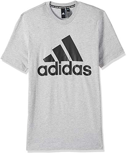 adidas Mh Bos tee T-Shirt, Hombre, Medium Grey Heather/Black, 2XL
