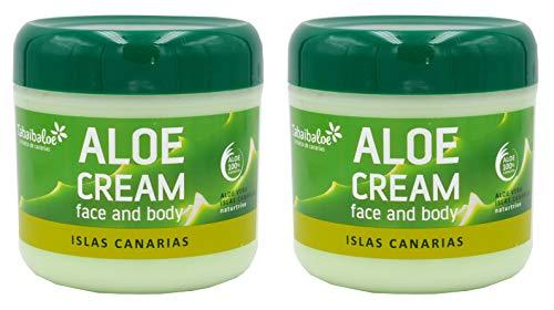 TABAIBA, aloe vera creme Gesichtscreme und Körper Aloe Vera x 2 Einheiten, 600 milliliter