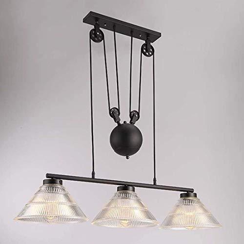 RUNNUP Industrial Vintage Lámpara de techo colgante Iluminación Araña...
