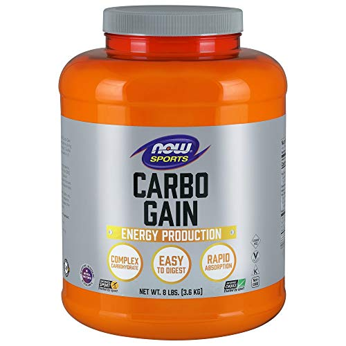 NOW Sports Nutrition, Carbo Gain Powder (Maltodextrin), Rapid Absorption, Energy Production, 8-Pound