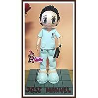 Fofucha muñeco personalizado enfermero o doctor 25 cms
