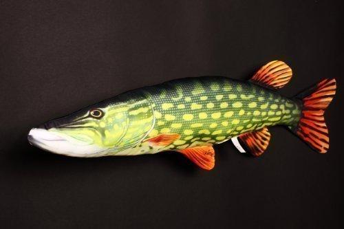 Gaby Novelty PEZ Almohada/cojín 6 Especies Carpa, Trucha marrón, Trucha Arcoíris Perch, Lucio Y Atlantic Pesca del Salmón Regalo Navidad Pesca Regalo Juguete