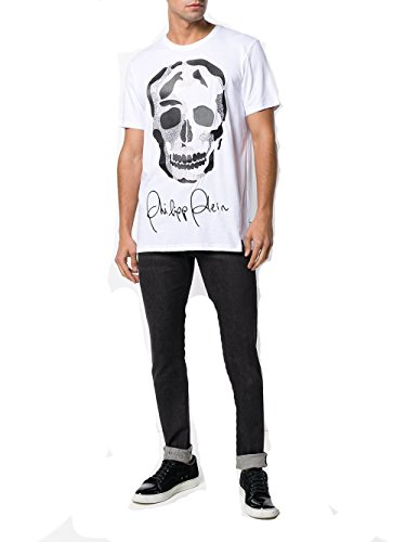 Philipp Plein - Camiseta - Redondo - Manga Corta - para hombre Blanco blanco Large