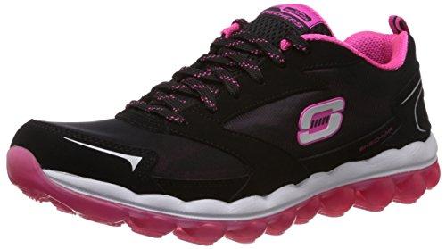 Skechers Sport Women's Skech Air Cross Trainer Sneaker,Black/Hot Pink,9 M US