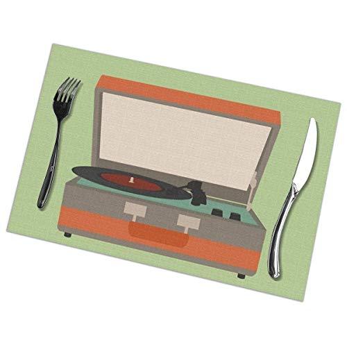Set de 6 manteles individuales para mesa de comedor, lavables y resistentes al calor (30,4 x 45,7 cm)