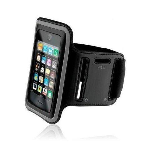 KHOMO - Funda Brazalete Deportivo para Apple iPhone, Correa de Brazo, Negro (Armband Black)