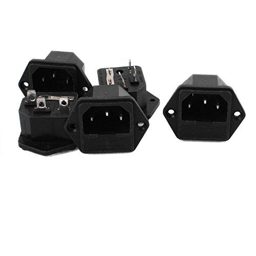 Aexit 5 Stk. Elektronik & Foto AC 250V 10A 3 Terminals Schraub en Montage Steckdose Zubehör mit Sicherungshalter
