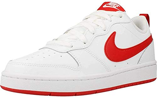 Nike Court Borough Low 2 (GS), Scarpe da Basket Unisex-Bambini, Bianco (White/University Red 103), 39 EU