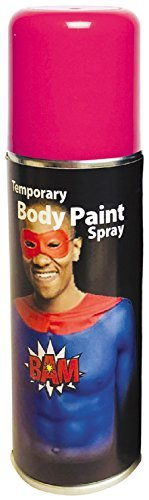 Heren Dames Meisjes Jongens Gekleurde Body Spray Paint Speciale Effecten Festival Halloween Feestjurk Kostuum Make-Up (Roze)