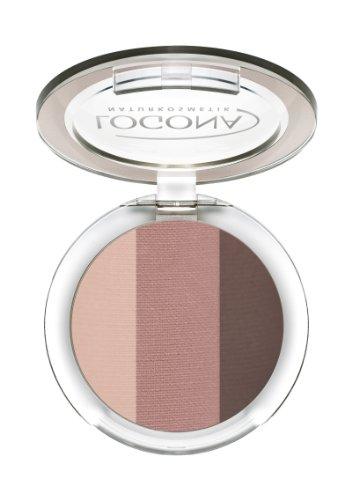 LOGONA Naturkosmetik Eyeshadow Trio No. 03 Rosewood, Natural Make-up, Lidschatten, abgestimmte Farben, für einen Tages-oder Abendlook, mit Anti-Aging-Wirkung, Bio-Extrakte, 4 g