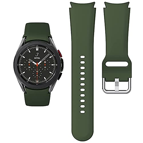 Apbands Compatibile per Samsung Galaxy Watch 4 44mm 40mm/Galaxy Watch 4 Classic 42mm 46mm/Galaxy Watch 3 41mm/Galaxy Watch 42mm/Active 2 40mm 44mm, Cinturino Sportivo in Silicone Morbido 20mm