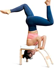 THUNDESK Yoga Inversion Bench,Yoga Headstand Prop,Upside Down Chair for Feet Up and Balance Training, Core Strength Building,Yoga,Pilates Chair (White)