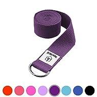 High Pulse® Cinghia da Yoga (300 x 3,8 cm) – Cintura da Yoga di Alta qualità con Chiusura Come Pratico Strumento per Yoga o Pilates – 100% Cotone