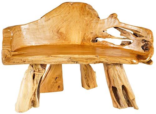 Windalf Vintage Auenland zitbank Paladin TUK 118 cm natuur keuken houten bank handgemaakt van wortelhout
