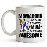 YouNique Designs - Taza de café con diseño de unicornio para mamá, 325 ml, color blanco