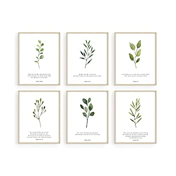 Haus and Hues Bible Verses Wall Decor - Set of 6 Christian Wall Decor Scripture Wall Art Bible Verses Wall Art Bible Verse Wall Decor Scripture Art Wall Decor Christian Posters UNFRAMED  11 x14