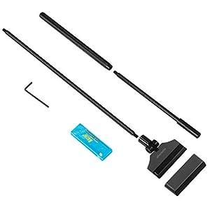 POPETPOP-Aquarium-Algen-Rasiermesser-Schaber-65cm-Aluminiumlegierung-Algenschaber-Reinigungsmittel-Werkzeug-mit-10-Klingen-fr-Glas-fischbecken-Schwarz