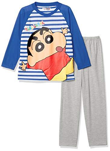 [クレヨンしんちゃん] クレヨンしんちゃん キッズ パジャマ (長袖+パンツ) 66027FH ブルー 日本 110 (日本サイズ110 相当)