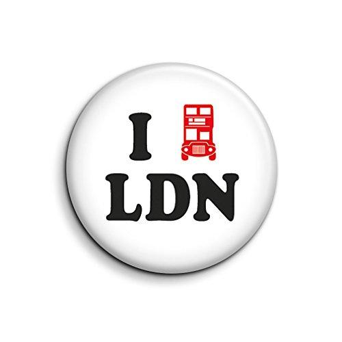 Imán para nevera con diseño de autobús rojo de Londres, con texto en inglés 'I Love London', recuerdo de Londres, regalo de cumpleaños pequeño, mini imán de transporte de Londres