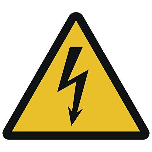 Warnung vor elektrischer Spannung Aufkleber Ø 10 cm (wetterfest)