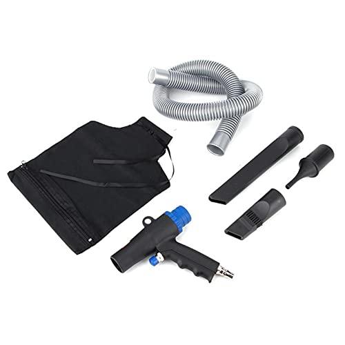 Pistola aspiradora EVTSCAN, 2 en 1, pistola de aire comprimido, aspiradora, limpiador neumático, kit de succión de 6 kPa